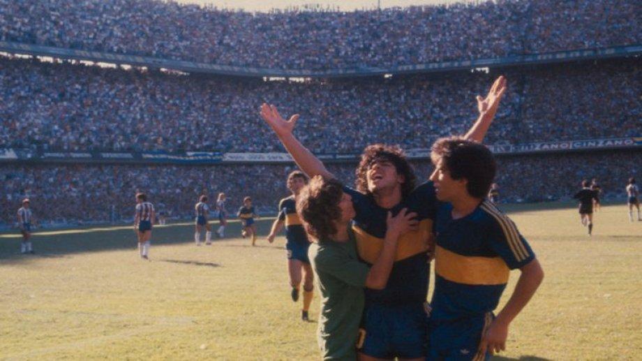 Diego Armando Maradona y el grito sagrado en su casa, la Bombonera.