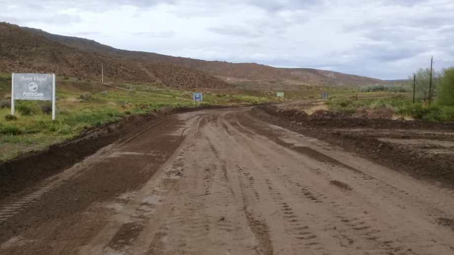 La ruta 23 resultó afectada por las lluvias, en el tramo que va de Ingeniero Jacobacci a Comallo. Foto: gentileza