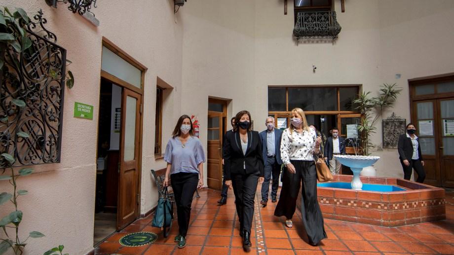 La reunión se realizó en la Casa de Gobierno. Foto: secretaria de medios PRN