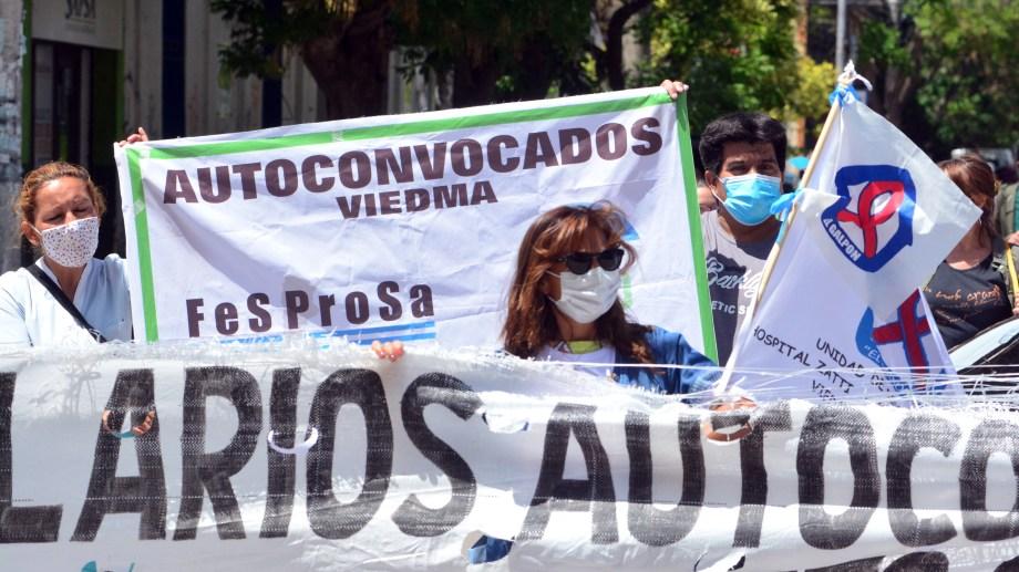"""La medida es en repudio al """"plus Pandemia"""" anunciado por el gobierno. Foto: Marcelo Ochoa"""