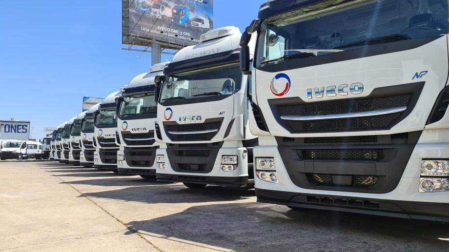 La empresa NRG Argentina incorporó 10 camiones propulsados a GNC a su flota para atender la última milla de la industria petrolera. (Foto: gentileza)