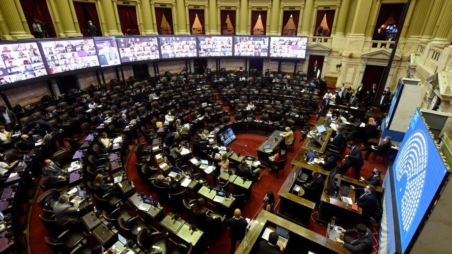 Diputados debate el convenio de transferencia progresiva en facultad y funciones de seguridad en materias no federales ejercidas en CABA. (Gentileza).-