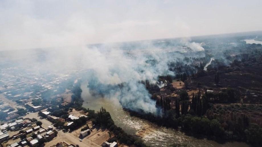 Incendio en Gral. Conesa de febrero de 2020. Foto gentileza