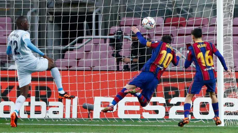 Messi y un nuevo récord. Foto: AP