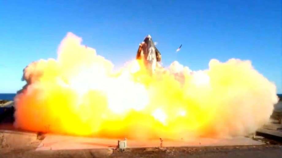 Se estrelló durante una prueba prototipo del cohete de SpaceX destinado a misiones a Marte.