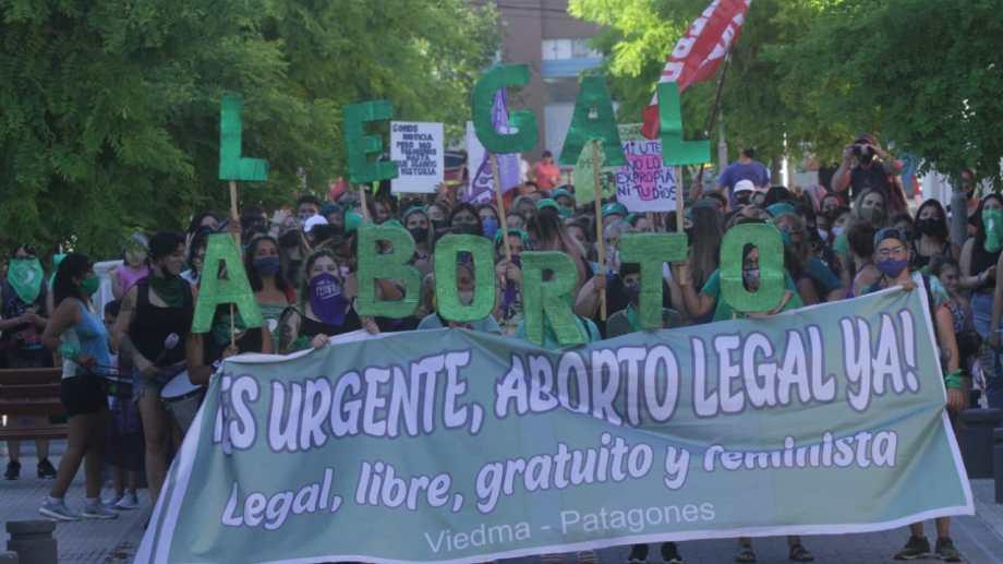 La marcha en apoyo al proyecto del Aborto que se trata en el Senado. Foto: Pablo Leguizamon