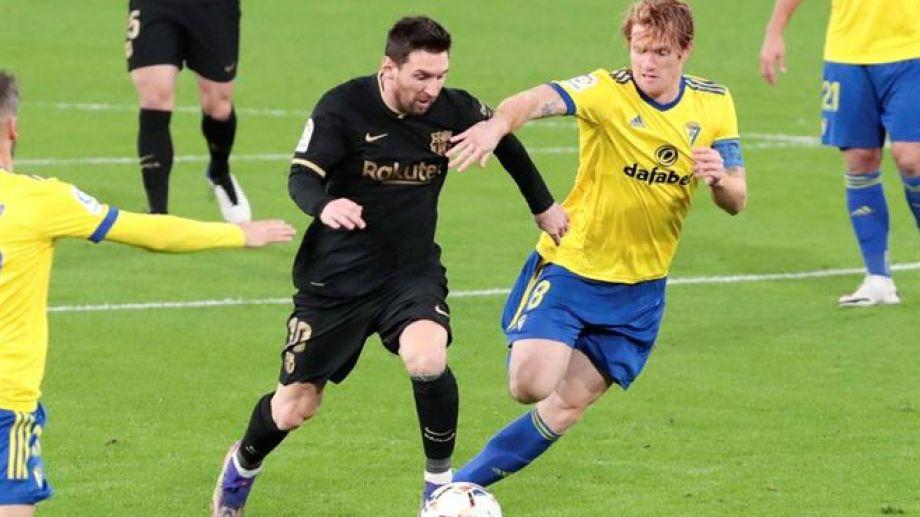 Messi no tuvo una buena actuación ante Cadiz.
