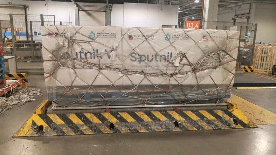 Así se prepara el primer cargamento de Sputnik V en Moscú para venir a nuestro país.