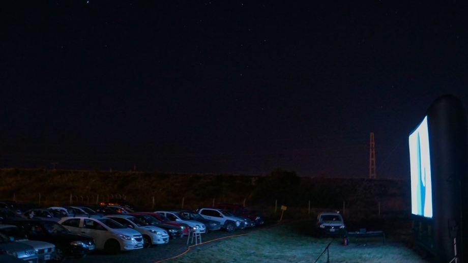 Las proyecciones se realizaron en el campus de la UNRN. Foto: gentileza.