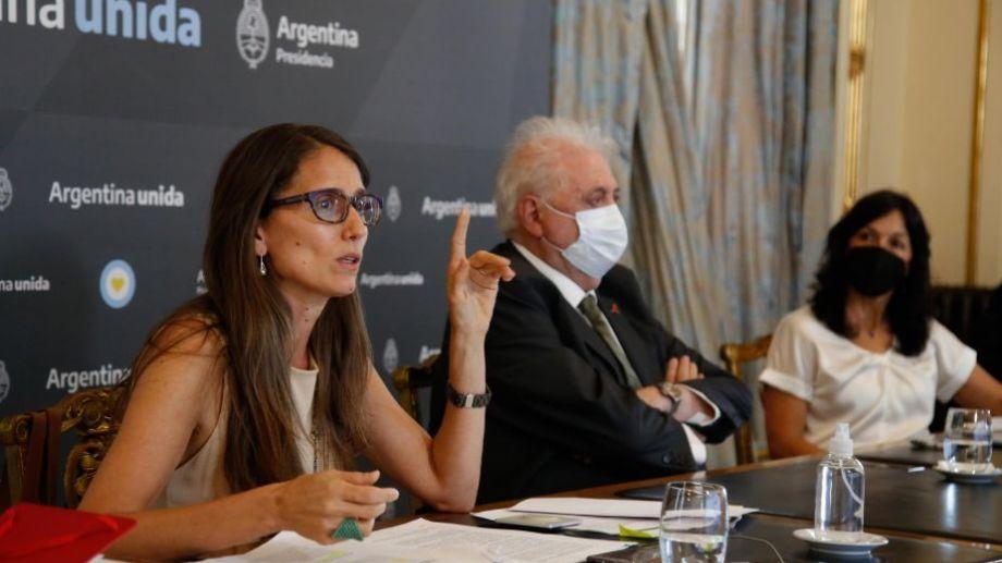 La ministra fue una de las oradoras en el inicio del debate por el proyecto de aborto legal. Foto: prensa Ministerio de las Mujeres y Diversidad.-