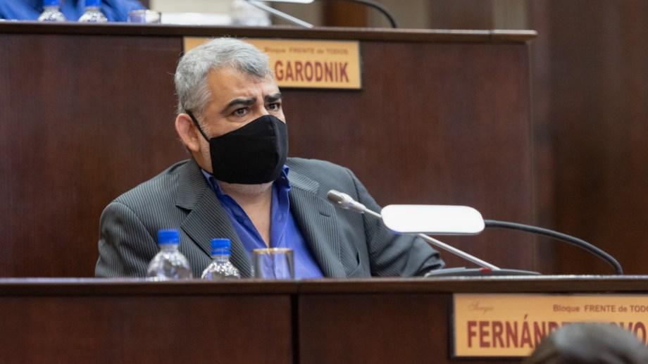 El diputado Fernández Novoa se refirió a los proyectos ingresados por el gobernador. Foto: gentileza.
