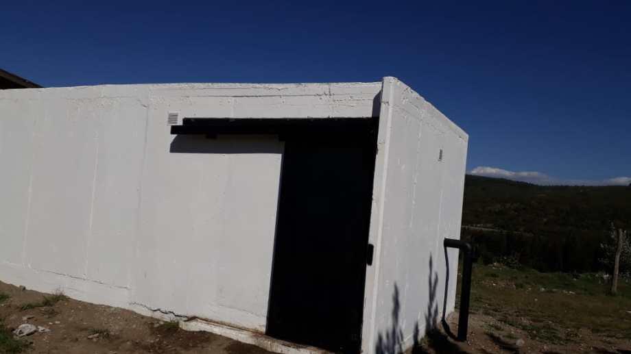 La obra de la cisterna ya está finalizada. Foto: gentileza