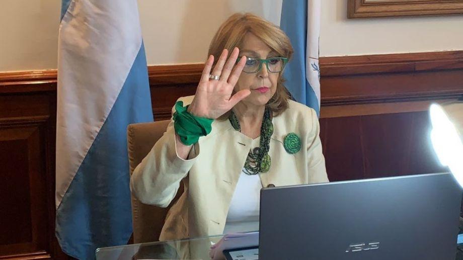 La senadora pampeana Norma Durango fue la informante del proyecto. Foto: prensa Durango.-