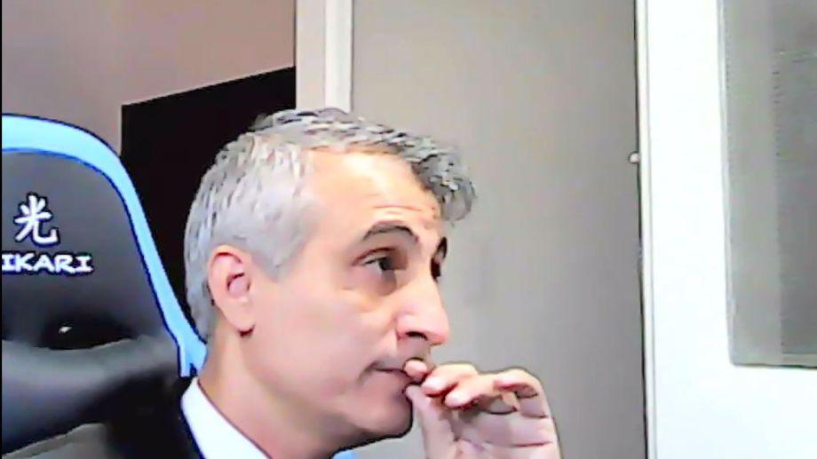Diego Piedrabuena, durante una de las audiencias por la causa penal.