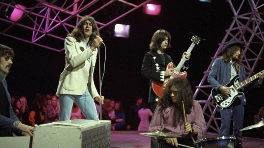 """Deep Purple en escena, en 1972, durante la presentación del álbum """"Machine Head""""."""