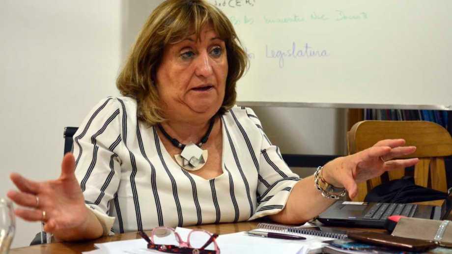 La ministra se encuentra internada en el hospital Zatti de Viedma. Foto Archivo: Marcelo Ochoa.