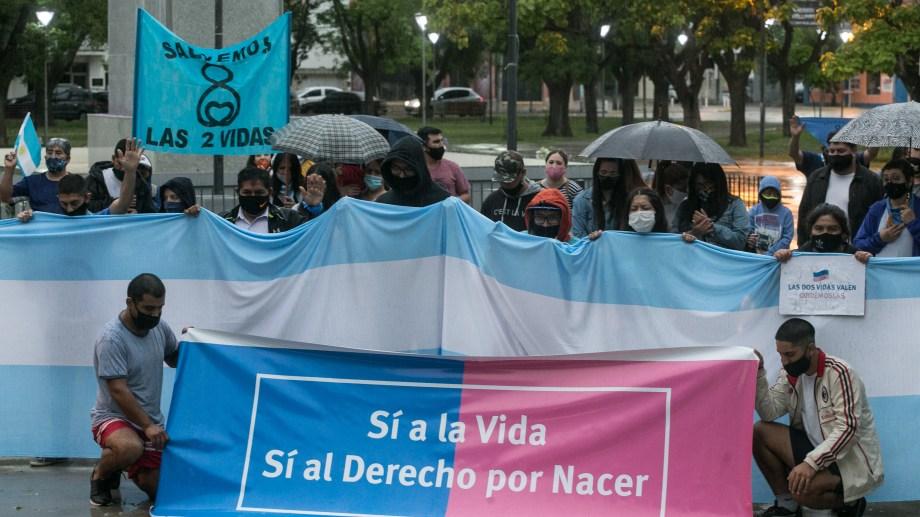 La plaza San Martín, lugar de convocatoria contra el aborto legal. Fotos: Pablo Leguizamón.