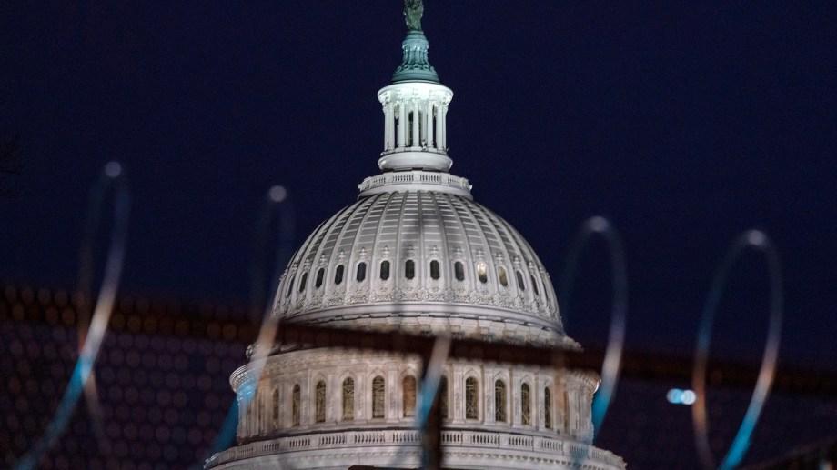 Washington tomó medidas los últimos días y parece un campamento atrincherado. (Foto: AP)