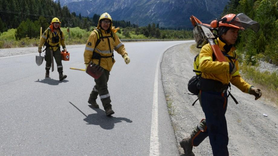 Más de cien brigadistas de diversos organismos trabajan para frenar el fuego en Cuesta del Ternero. Foto: Alfredo Leiva