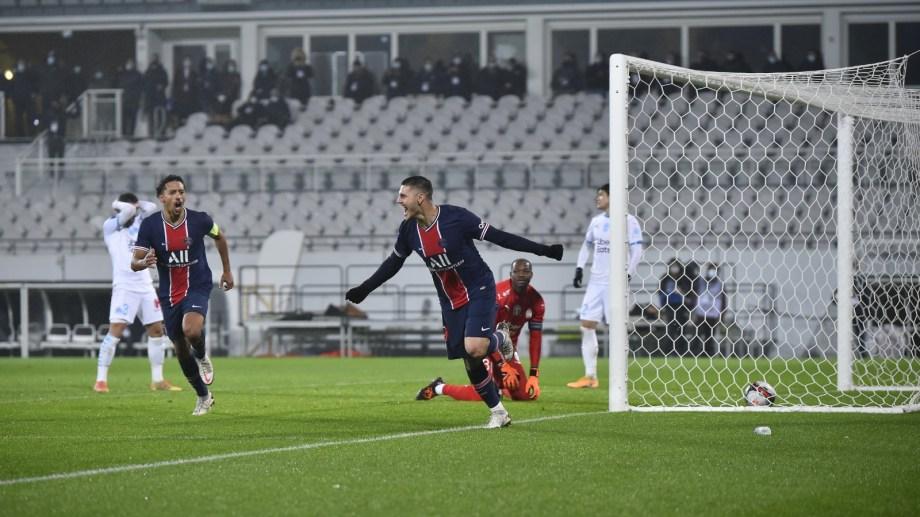 El rosarino abrió el marcador en el triunfo de PSG.