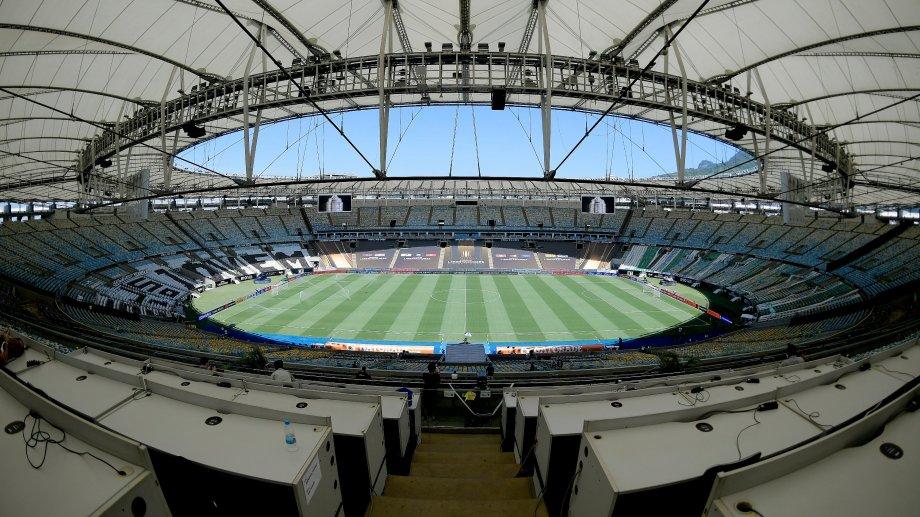El Estadio Maracaná vacío en la final de Copa.