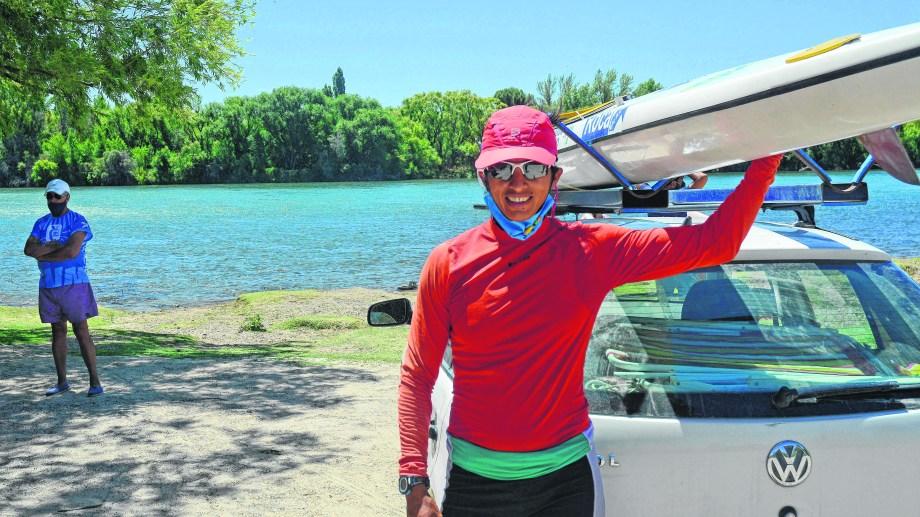 Esta vez, la ex campeona mundial seguirá la travesía desde la orilla alentando a su equipo. Foto: Andrés Maripe