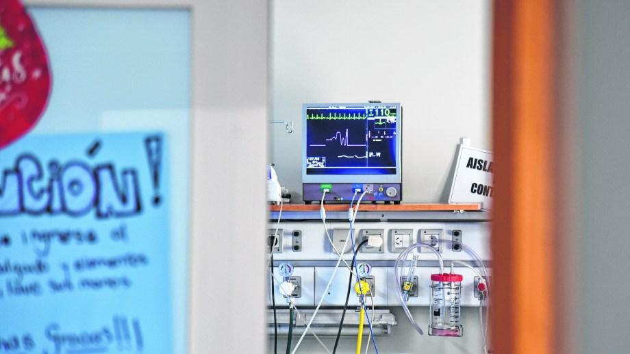 El área de terapia intensiva no tiene pacientes internados con covid.  (foto: Florencia Salto)