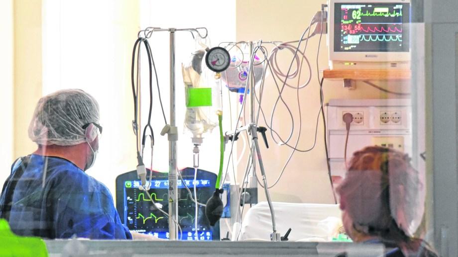 La Unidad Covid fue montanda especialmente en el contexto de la pandemia en el hospital de mayor complejidad del sistema público. Foto Florencia Salto.