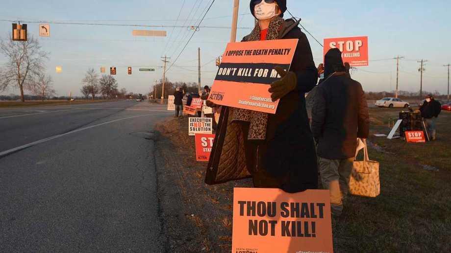 Hubo protestas para intentar frenar la ejecución. Foto: AP