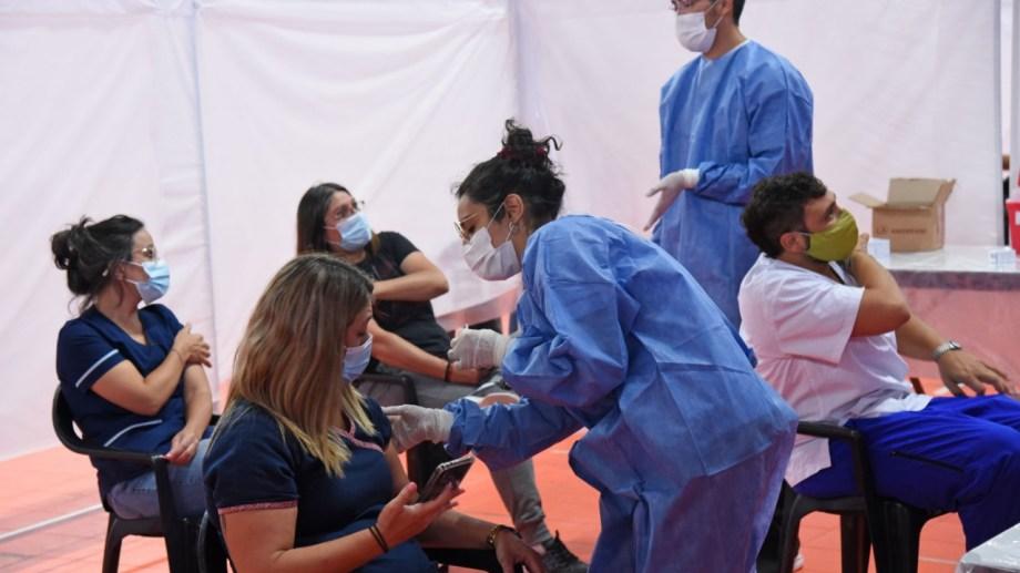 Hasta el domingo, se habían vacunado más de 7.900 trabajadores. Foto: archivo Florencia Salto.
