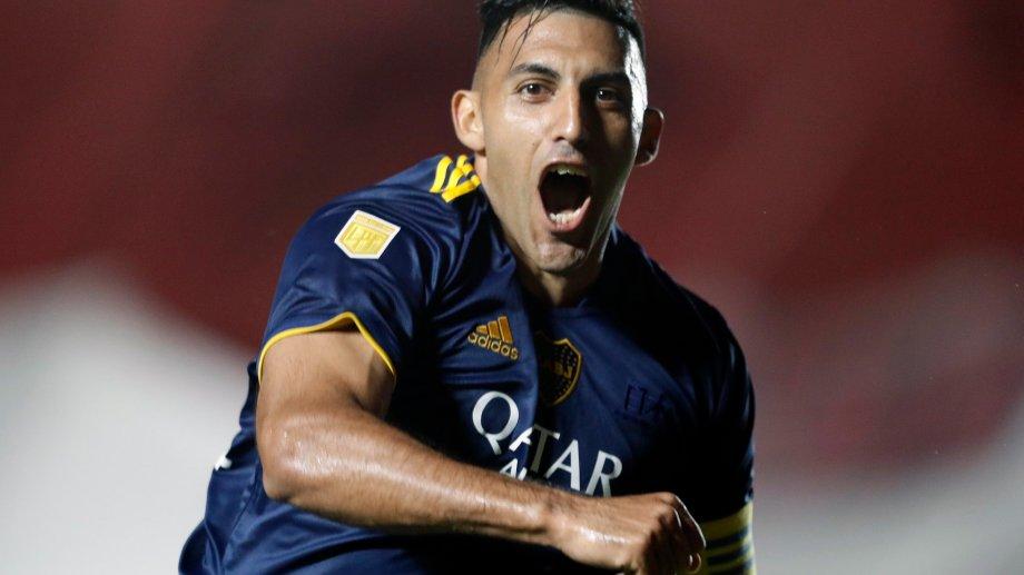 Ramón Ábila marcó el gol que a la larga fue decisivo para la clasificación de Boca a la final.