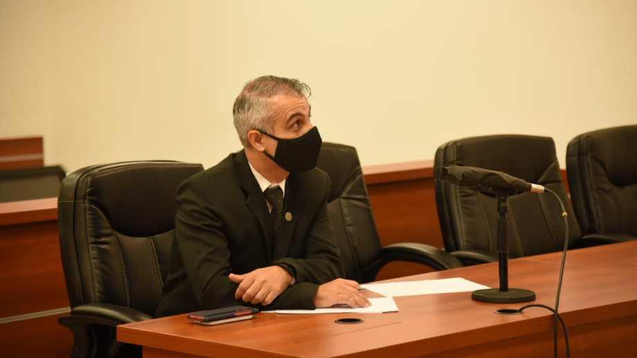 Piedrabuena, en la audiencia de formulación de cargos. (Archivo/Flor Salto)