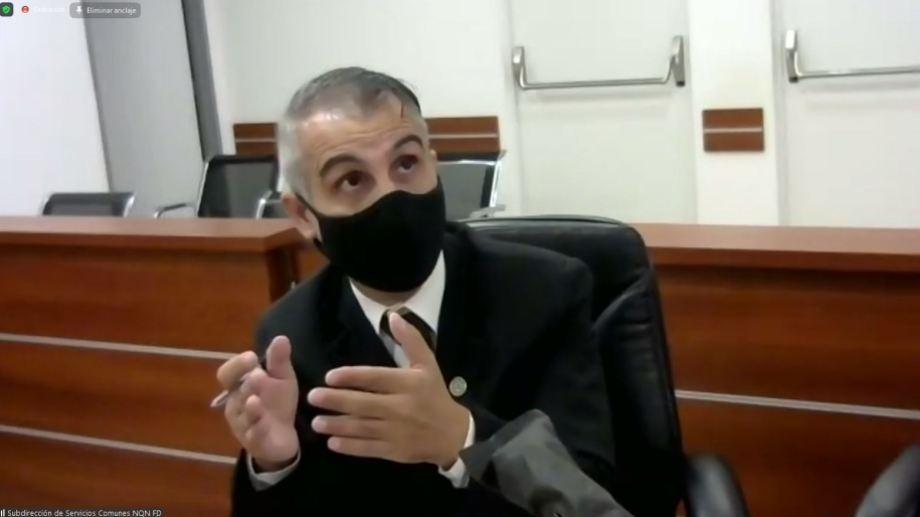 El juez Piedrabuena durante una de las audiencias en la Ciudad Judicial. (Archivo)