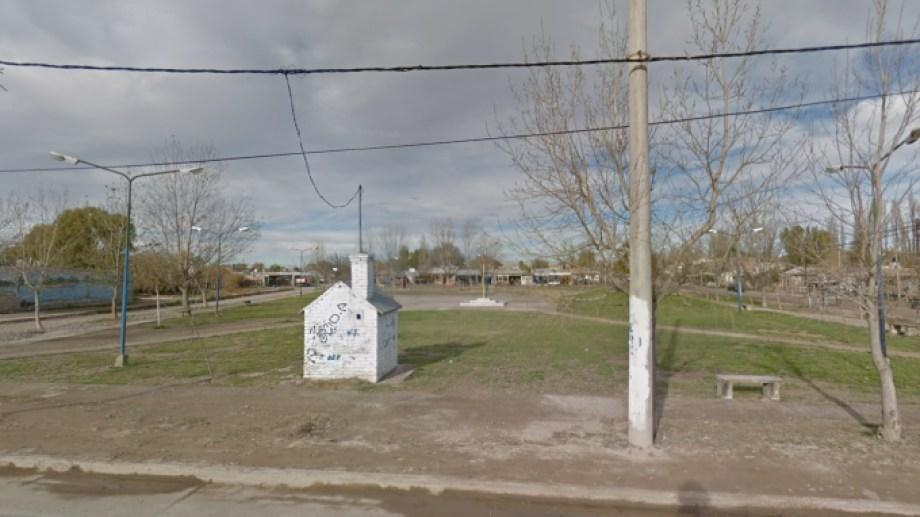 La plaza de Valentina donde se efectuaron los disparos. Foto: Google Maps.