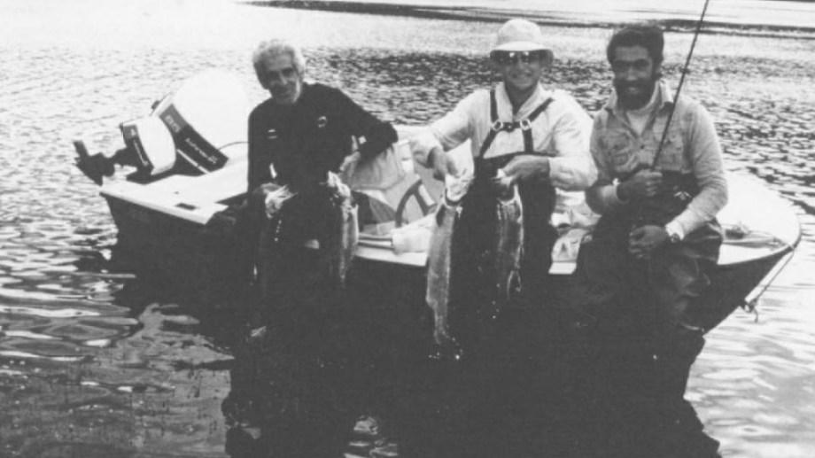 1980. Allan Fraser (izquierda) en el Paimun, con Enriquer Gherardi y Juan Farías