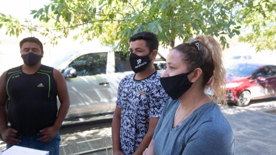 Mauricio estuvo en tribunales junto a la familia de Nicole. (foto: Juan Thomes)