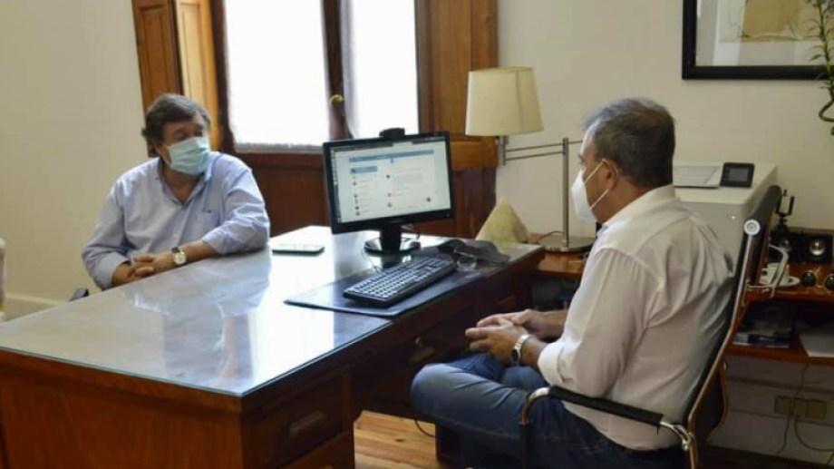 Weretilneck se reunió con el intendente de Viedma, Pedro Pesatti.