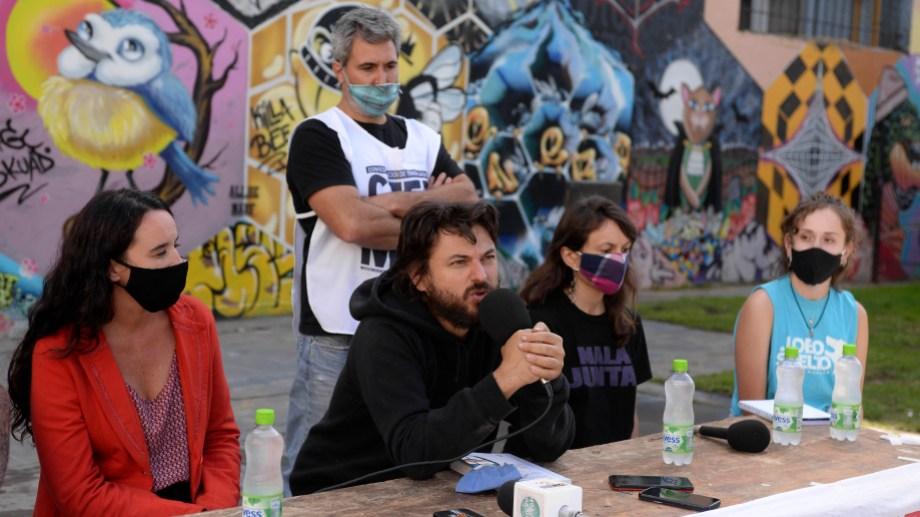 El dirigente social Juan Grabois presentó su plan en Bariloche. Foto: Chino Leiva