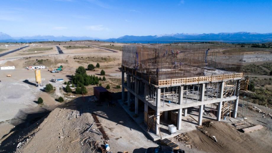 La obra del Parque Productivo de Bariloche, que se financia con el Plan Castello, tiene un importante grado de avance. Gentileza