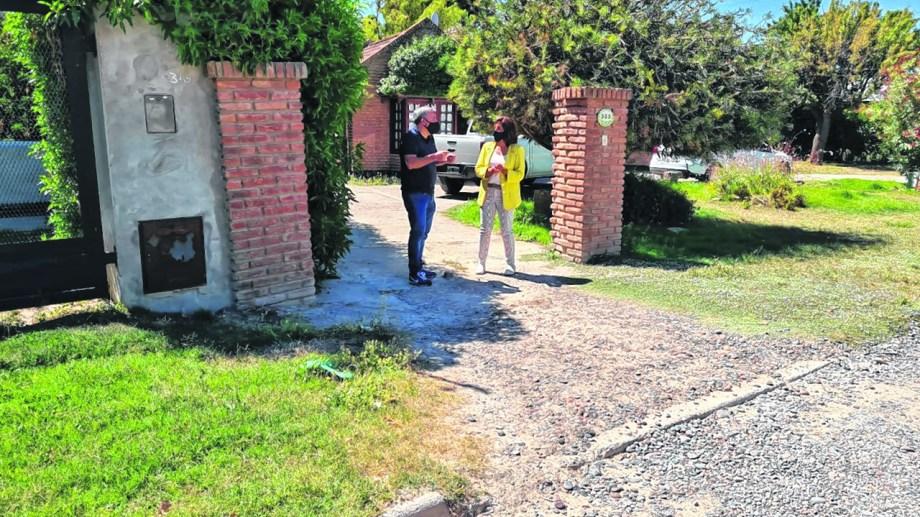 Carreras y Aguiar saliendo de la reunión no informada. Foto: gentileza.