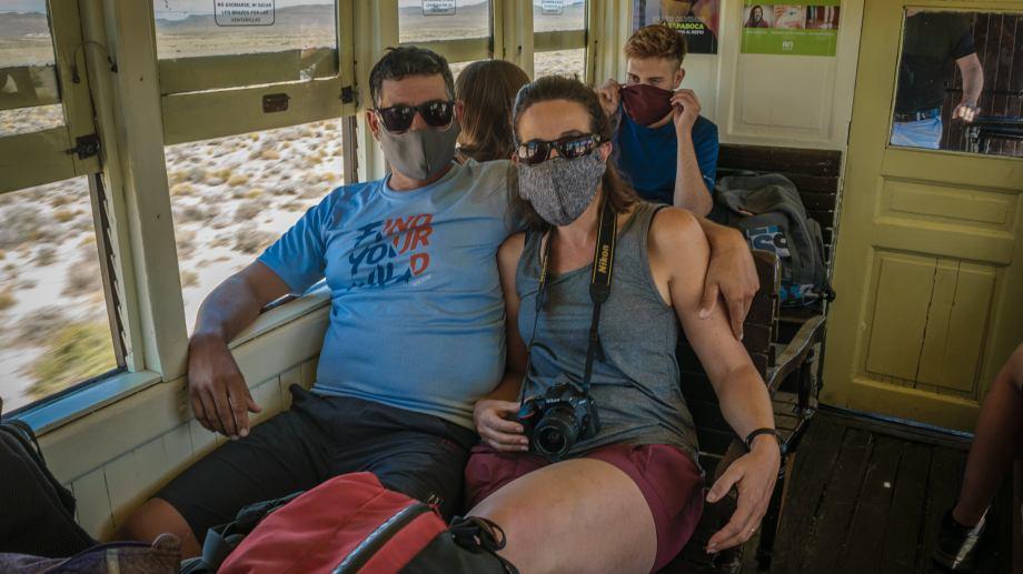 Los viajes se realizan bajo un estricto protocolo por el COVID-19. Foto: Alejandra Díaz.