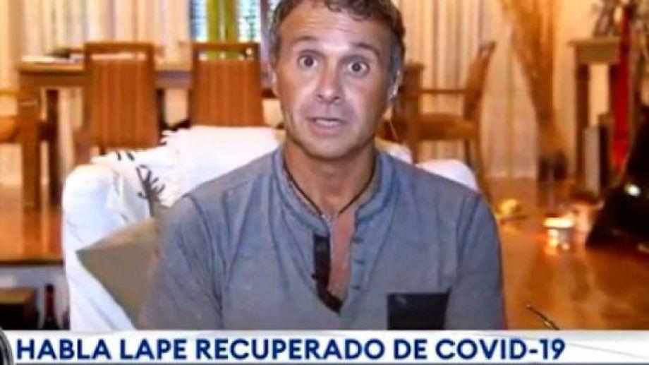 Sergio Lapegüe aseguró que aún tiene coronavirus en los pulmones.