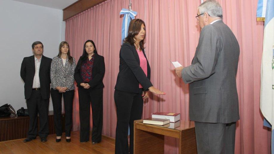 María Alejandra Cerda, el día que juró en el Consejo de la Magistratura. (Archivo)
