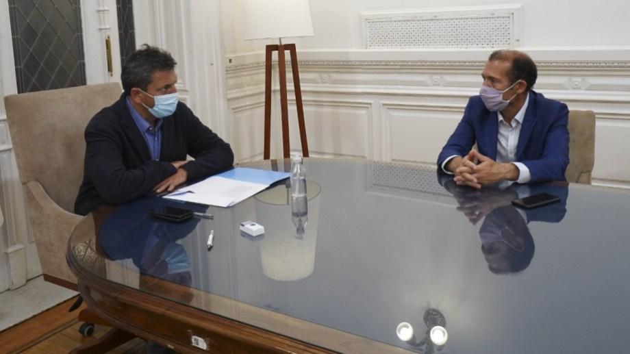 El gobernador neuquino se reunió esta tarde con el presidente de la Cámara de Diputados, Sergio Massa, (Neuquén Informa)