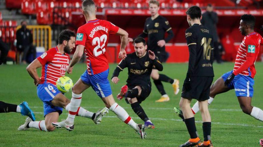 Lio viene de meterle dos goles a Granada en el duelo reciente por Liga.