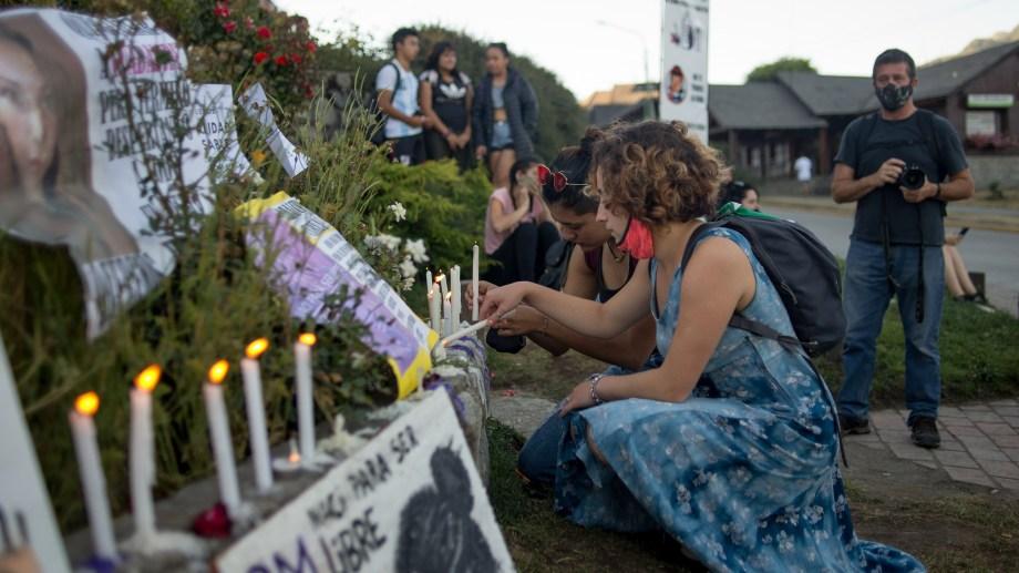 Una de las marchas para exigir justicia por el femicidio de Guadalupe. Foto: Marcelo Martínez