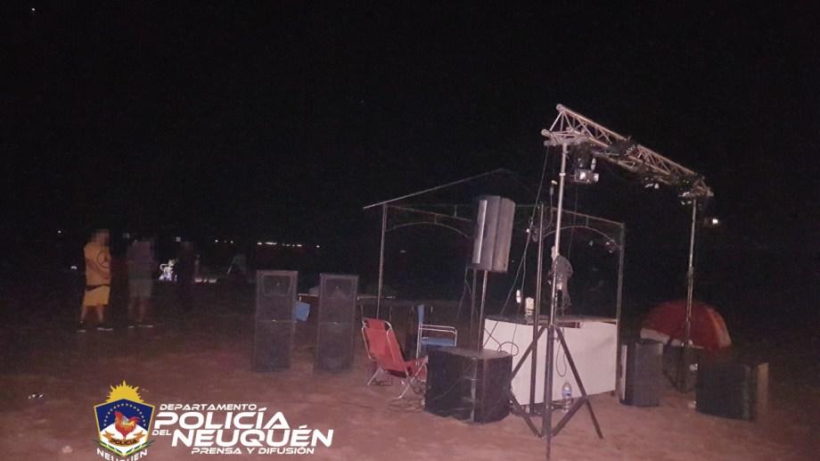 El lugar donde se desarrollaba la fiesta en Los Barreales  era un sitio de difícil acceso. Foto: Gentileza