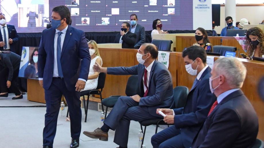 El intendente Mariano Gaido propuso la enmienda en la apertura de sesiones del Concejo Deliberante (foto Florencia Salto)