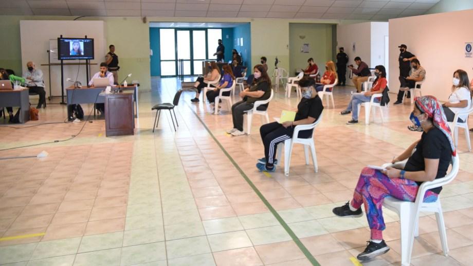 Las audiencias se llevan a cabo con modalidad pandemia de prevención de contagios (foto Florencia Salto)