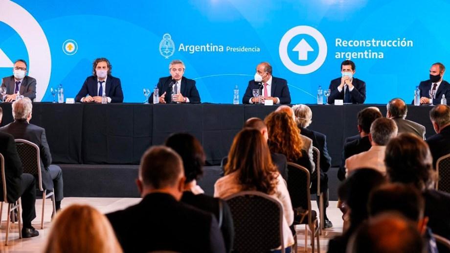 """Alberto Fernández al campo: """"Tenemos que sentarnos a dialogar y prestar menos atención a los profetas del odio"""". Foto Télam."""